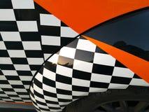 Automobile dipinta nella progettazione di corsa, primo piano fotografia stock