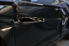 Automobile dopo l'arresto Fotografie Stock