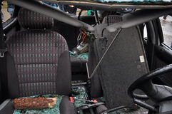 Automobile dopo l'incidente Fotografie Stock Libere da Diritti