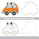 Automobile. Drawing worksheet. Royalty Free Stock Image