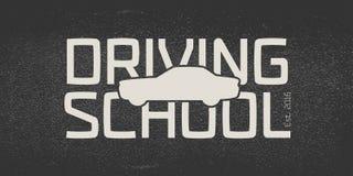 Automobile driving school vector logo, sign, emblem Royalty Free Stock Photo