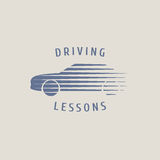 Automobile driving school vector logo, sign, emblem Royalty Free Stock Photo