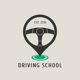 Automobile driving school vector logo, sign, emblem Stock Photo