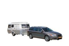 Automobile e caravan Immagine Stock Libera da Diritti