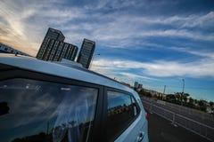 automobile e cielo Fotografia Stock Libera da Diritti