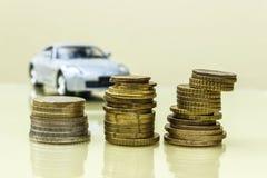 Automobile e nella priorità alta di un penny Fotografia Stock Libera da Diritti