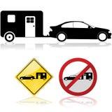 Automobile e rimorchio illustrazione di stock