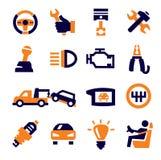 Automobile e riparazione Immagine Stock