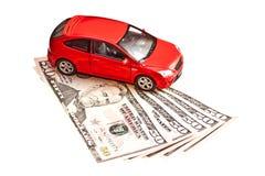 Automobile e soldi Fotografia Stock Libera da Diritti