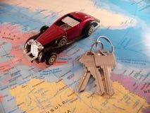 Automobile e tasti immagine stock