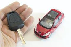 Automobile e tasto Fotografie Stock Libere da Diritti
