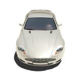 Automobile eccellente d'argento isolata su bianco Fotografia Stock