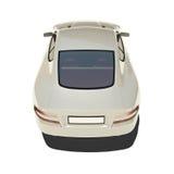 Automobile eccellente d'argento isolata su bianco Immagini Stock
