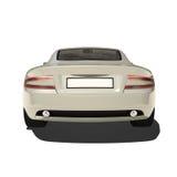 Automobile eccellente d'argento isolata su bianco Immagine Stock Libera da Diritti