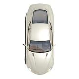 Automobile eccellente d'argento isolata su bianco Fotografie Stock