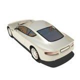 Automobile eccellente d'argento isolata su bianco Fotografia Stock Libera da Diritti