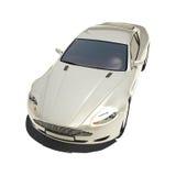 Automobile eccellente d'argento isolata su bianco Immagini Stock Libere da Diritti