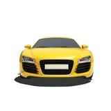 Automobile eccellente gialla isolata sui precedenti bianchi Fotografia Stock