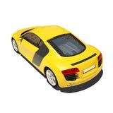 Automobile eccellente gialla isolata sui precedenti bianchi Immagini Stock