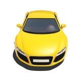 Automobile eccellente gialla isolata sui precedenti bianchi Fotografie Stock