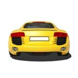 Automobile eccellente gialla isolata sui precedenti bianchi Immagini Stock Libere da Diritti