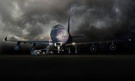 Automobile ed aerei Fotografie Stock