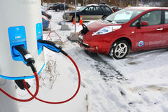 Automobile elettrica Immagini Stock Libere da Diritti