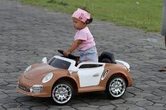 Automobile elettrica del giocattolo Immagini Stock Libere da Diritti