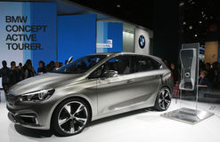 Automobile elettrica di BMW Immagine Stock Libera da Diritti