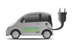 Automobile elettrica di carico Fotografie Stock Libere da Diritti