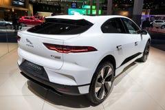 Automobile elettrica di io-passo EV400 SUV di Jaguar fotografia stock libera da diritti