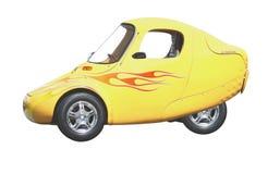 Automobile elettrica gialla di tecnologia Immagine Stock Libera da Diritti