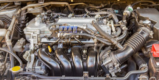Automobile Engine on background. Royalty Free Stock Images