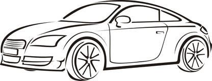 Automobile esclusiva Illustrazione di Stock