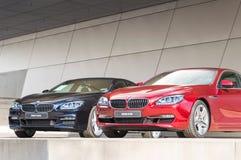 Automobile esclusiva della berlina di affari di BMW della prima classe moderna di programma di modello Immagine Stock Libera da Diritti