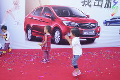 The automobile exhibition sales, in Shenzhen, China Stock Photo