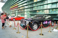 The automobile exhibition sales, in Shenzhen, China Stock Photography