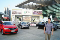 The automobile exhibition sales, in Shenzhen, China Royalty Free Stock Images