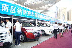 The automobile exhibition sales, in Shenzhen, China Royalty Free Stock Photo