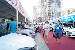The automobile exhibition sales, in Shenzhen, China Royalty Free Stock Photos