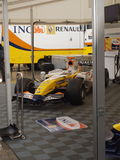 Automobile F1 di Renauit per la rappresentazione in tournée fotografia stock