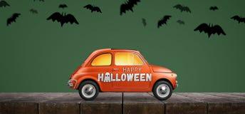 Automobile felice di Halloween fotografie stock