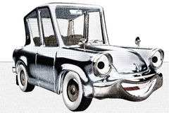 Automobile felice di Toon Fotografia Stock