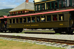 Automobile ferroviaria Fotografia Stock