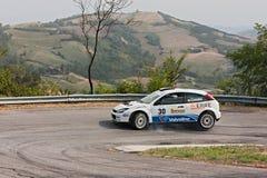 Automobile Ford Focus WRC di raduno immagine stock libera da diritti