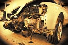 Automobile fracassata Fotografie Stock Libere da Diritti
