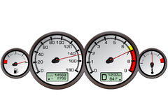Automobile Gauges. Illustration expressing speed and power Stock Photo