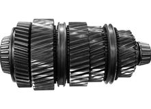 Automobile gear on isolated stock photo