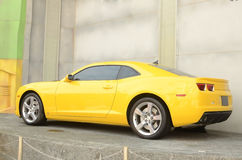 Automobile gialla Fotografia Stock Libera da Diritti