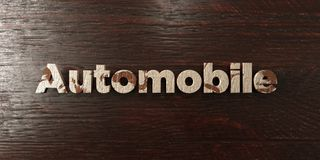 Automobile - grungy wooden headline on Maple  - 3D rendered royalty free stock image Royalty Free Stock Photo